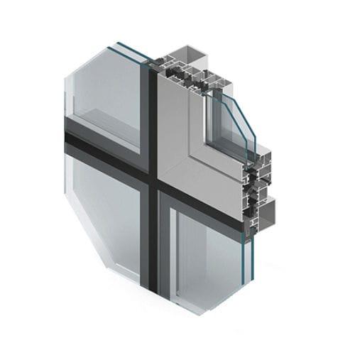 système de façade en verre