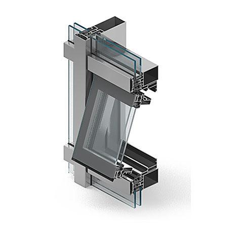 système de façade en aluminium