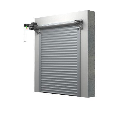 porte de garage enroulable / en aluminium / automatique / isolante