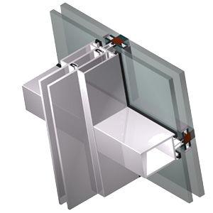 mur-rideau en aluminium et en verre / en verre