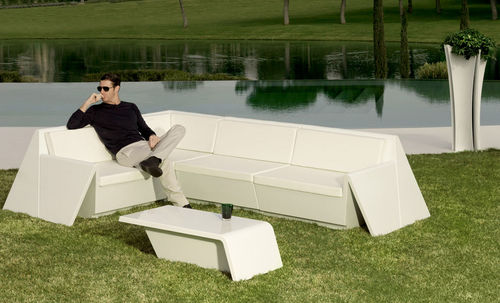 table basse contemporaine / en polyéthylène / rectangulaire / de jardin