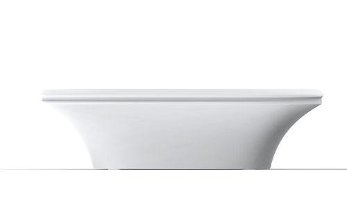 table contemporaine / en polyéthylène / ovale / de jardin