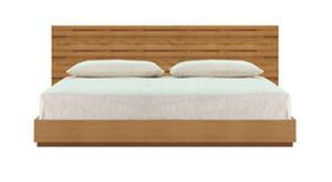 lit de jardin double / contemporain / avec tables de chevet intégrées / en teck