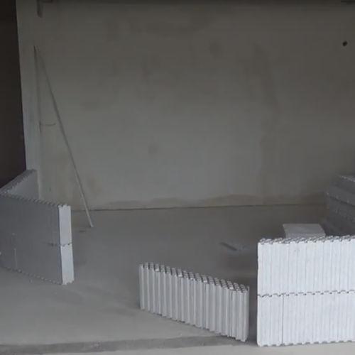 bloc de coffrage en polystyrène expansé PSE / pour mur intérieur / pour cloison / isolant