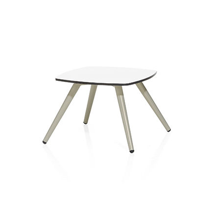 table basse contemporaine / en métal / en HPL / carrée