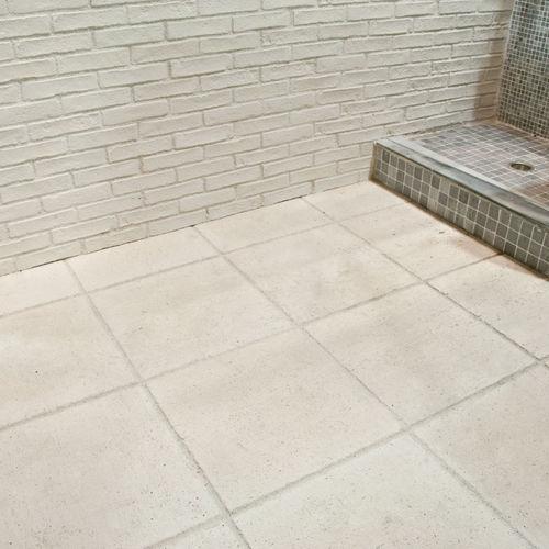 carrelage d'extérieur / pour sol / en béton / uni