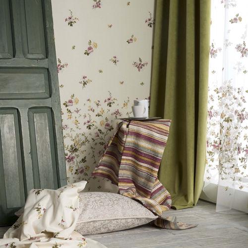 tissu d'ameublement / pour rideaux / mural / uni