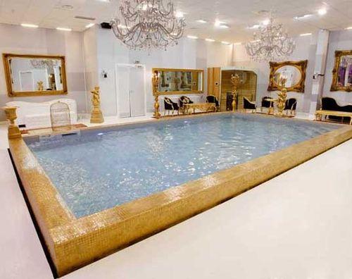 piscine en blocs à bancher en polymère / enterrée / en béton / d'intérieur