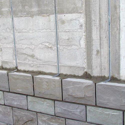 système de fixation en acier inoxydable / pour cloison / pour pilier / pour extérieur