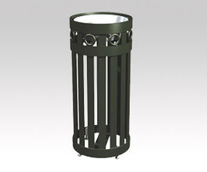 cendrier sur pied / en acier / pour extérieur / pour espace public