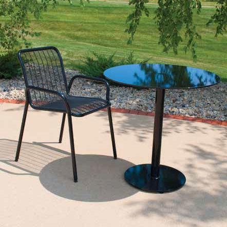 table bistrot contemporaine / en acier / ronde / d'extérieur