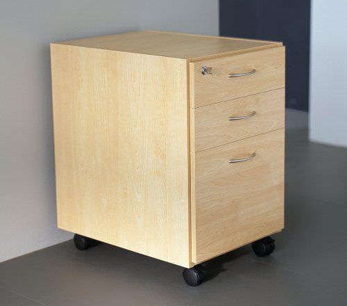 caisson de bureau en bois / à 3 tiroirs / à clé