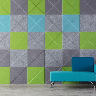 carrelage acoustique / d'intérieur / mural / plastique