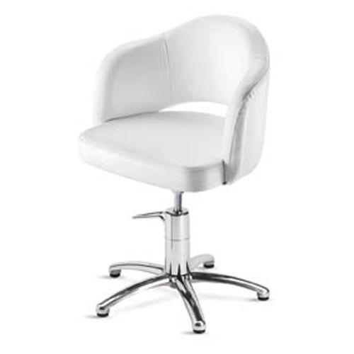 fauteuil de coiffure en tissu / pivotant / avec pompe hydraulique / piètement étoile