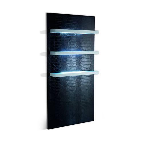 présentoir mural / pour produits de beauté / en bois / rétroéclairé