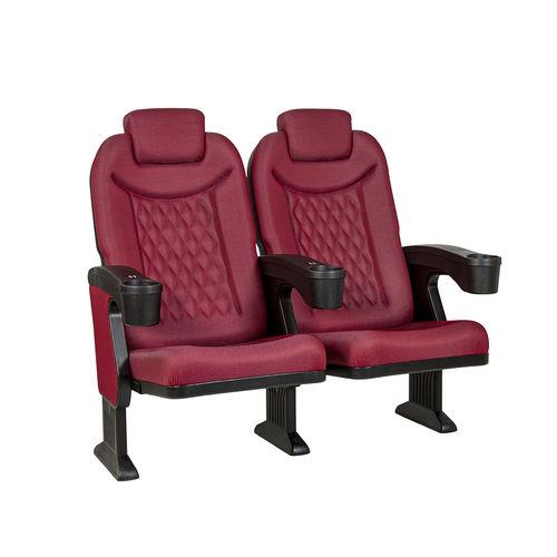 fauteuil de cinéma en tissu / avec repose-tête / rouge