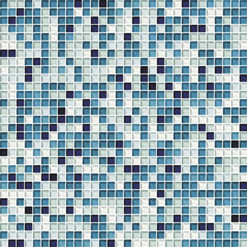 mosaïque d'intérieur / murale / en verre / carrée