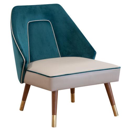 fauteuil contemporain / en tissu / en bois / en acier inoxydable