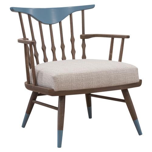 fauteuil contemporain / en tissu / en bois / contract