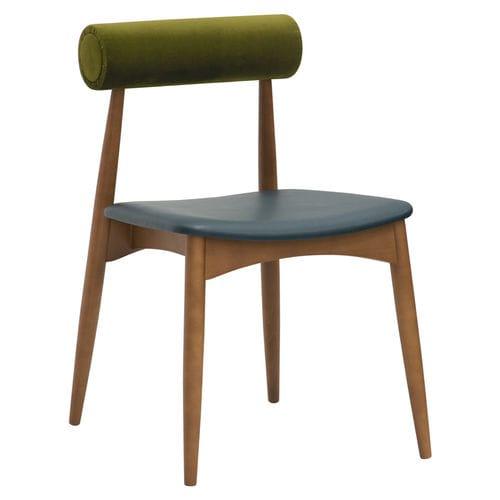 chaise de salle à manger contemporaine / tapissée / personnalisable / écolabel FSC