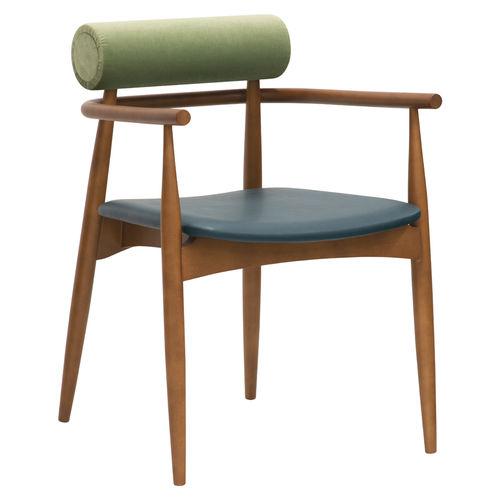 chaise de salle à manger contemporaine / tapissée / avec accoudoirs / personnalisable