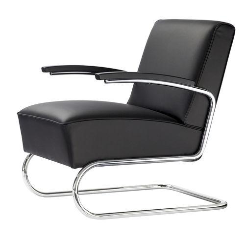 fauteuil contemporain / en tissu / en cuir / en acier