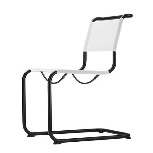 chaise de jardin contemporaine / avec accoudoirs / cantilever / en acier