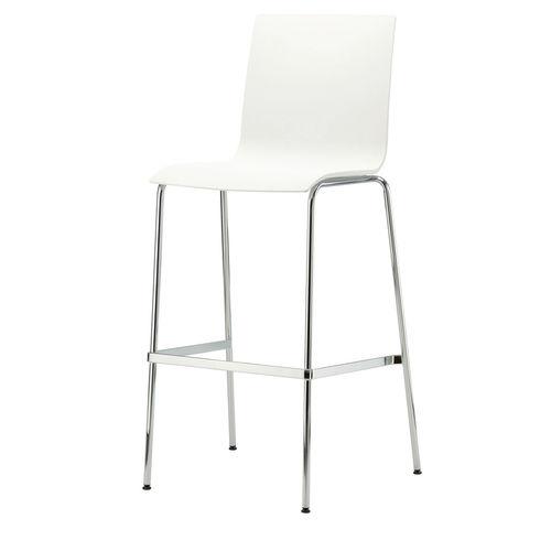 chaise de bar contemporaine / tapissée / avec repose-pieds / en contreplaqué moulé