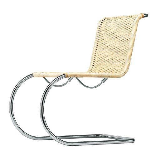 chaise design Bauhaus / cantilever / en osier / en cuir