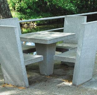 table de pique-nique contemporaine