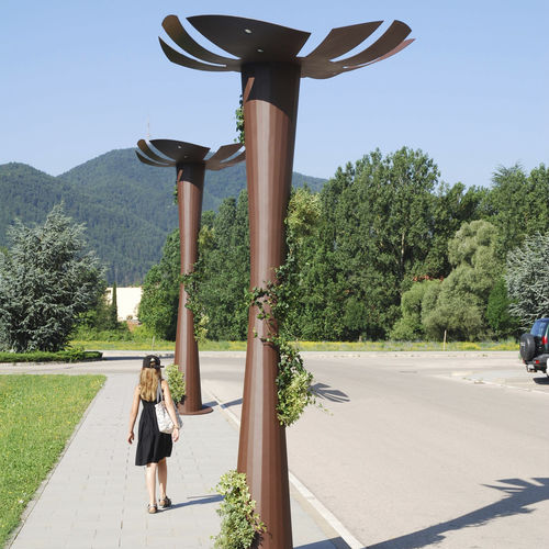 lampadaire urbain / contemporain / en acier COR-TEN® / à LED