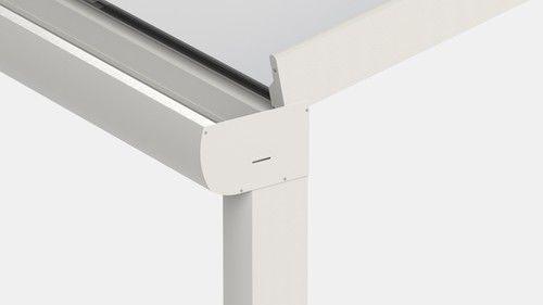 pergola adossée / en aluminium / couverture en polycarbonate / couverture en verre