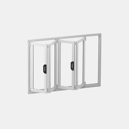 baie vitrée pliante / à double vitrage / étanche