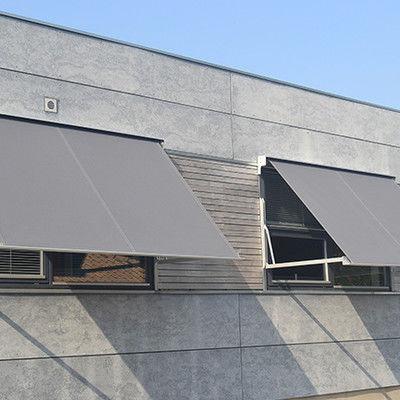 store banne à projection / manuel / pour fenêtre / blanc