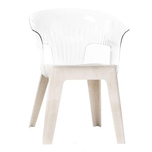 chaise contemporaine / empilable / bois / en polypropylène