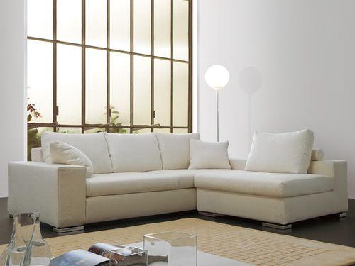canapé modulable / contemporain / en cuir / blanc