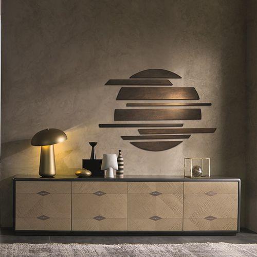 meuble de télévision contemporain / en bois