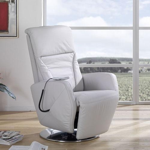 fauteuil de massage en cuir / avec repose-pieds / avec repose-tête