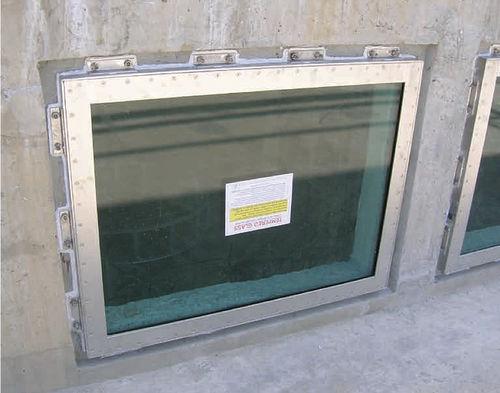 fenêtre fixe / en inox / à triple vitrage / étanche