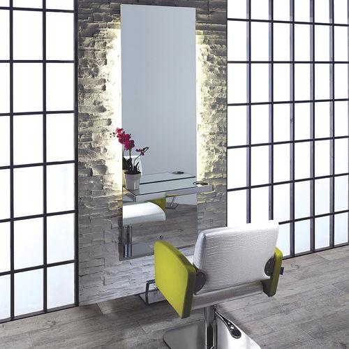 coiffeuse contemporaine / en aluminium / murale / pour salon de coiffure