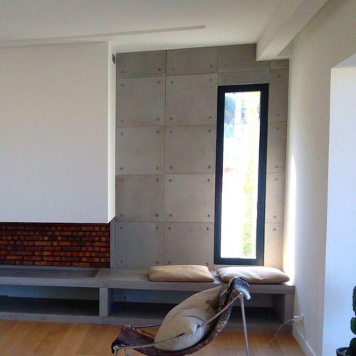 revêtement mural en béton bfuhp Ductal® / résidentiel / mat / aspect béton