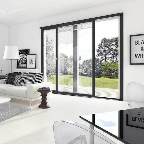 baie vitrée coulissante / en aluminium / à double vitrage / à coupure thermique