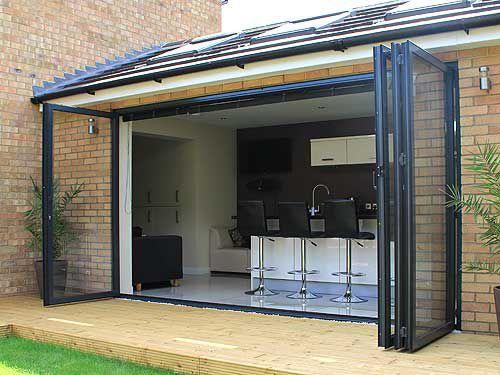Baie vitrée coulissante-empilable - SF55 - I D Systems - pliante / en aluminium / à double vitrage