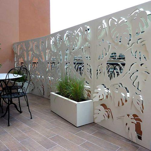 brise-vue en panneau / en aluminium / en acier COR-TEN® / aspect moucharabieh
