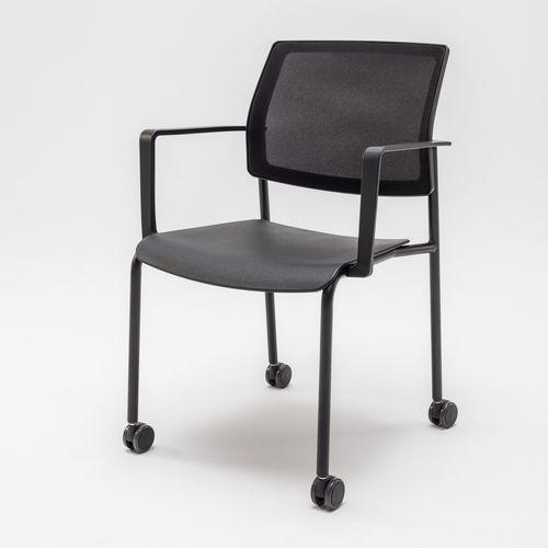 Chaise de conférence tapissée GAYA K MDD avec