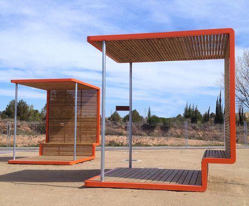 abri multifonction pour espace public - URBADIS by Microarquitectura