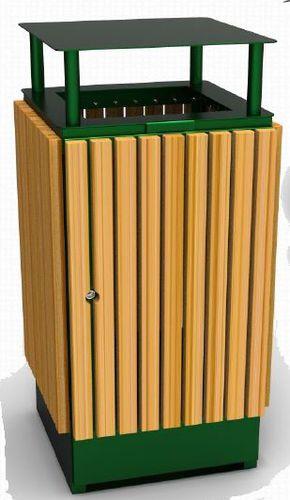 poubelle publique / en acier / en bois / professionnelle