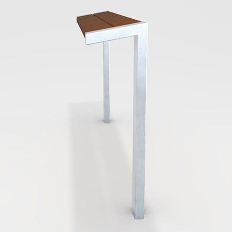banc assis-debout / public / contemporain / en bois
