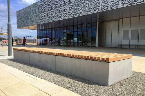 banc public / contemporain / en béton