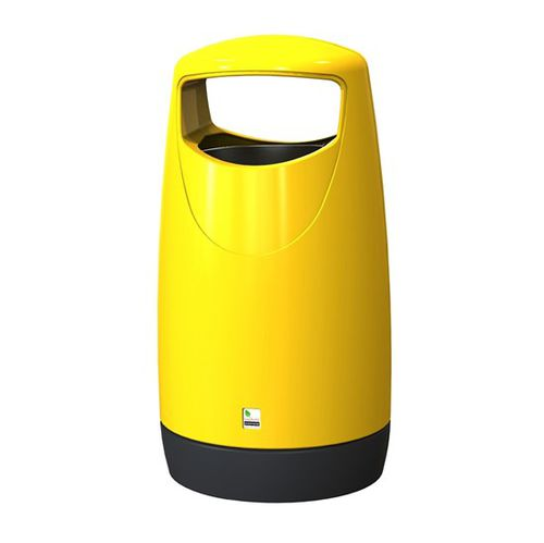 poubelle publique / en polyéthylène haute densité PEHD / professionnelle / contemporaine